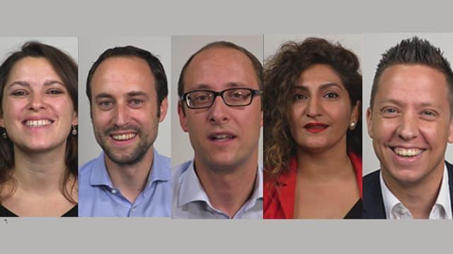Politiker der fünf grössten Parteien