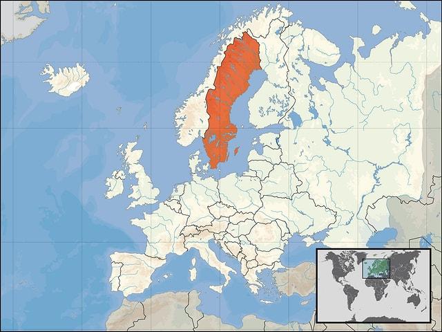 Karte von Skandinavien