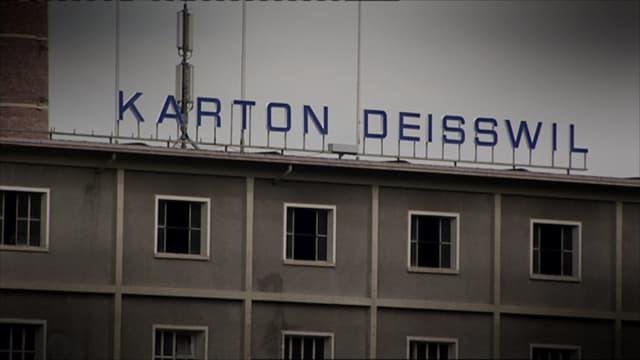Das Logo der alten Kartonfabrik Deisswil.