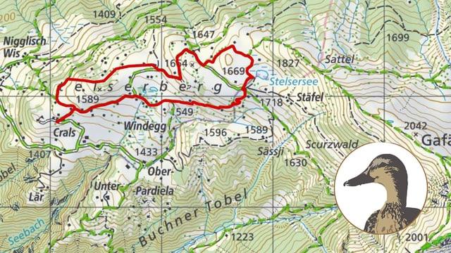 Karte mit Entenlogo
