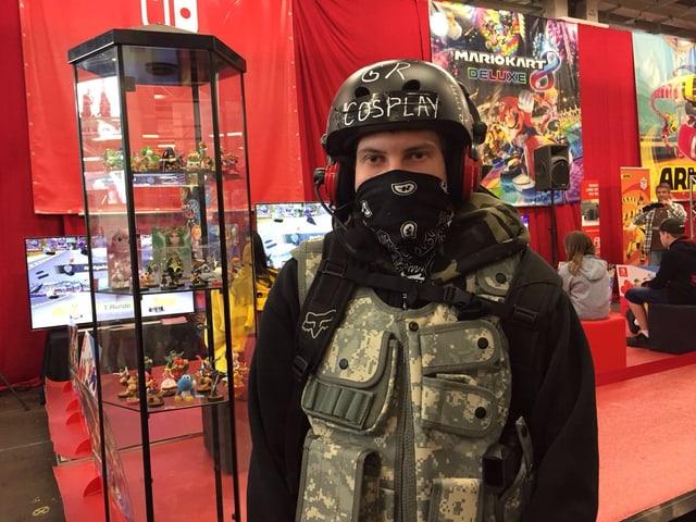 Ein Cosplay-Spieler an der Fantasy Basel.