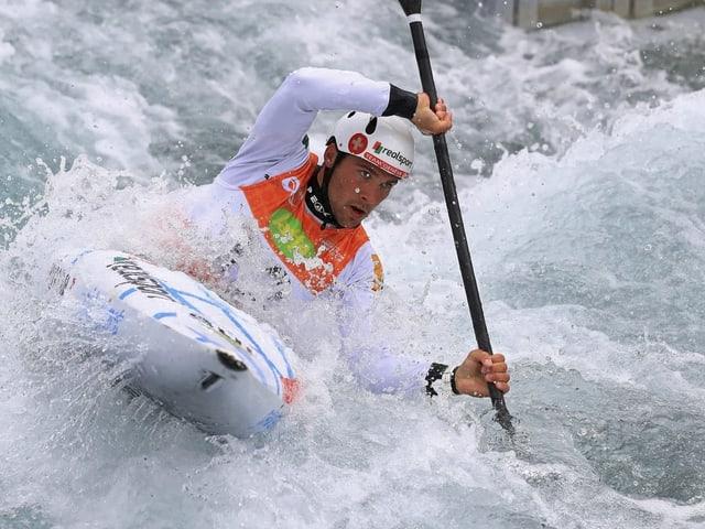 Martin Dougoud ist einer der beiden Kanuten, die der Schweiz Quotenplätze für Olympia sicherten.