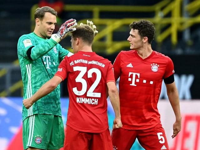 Die Bayern-Spieler.