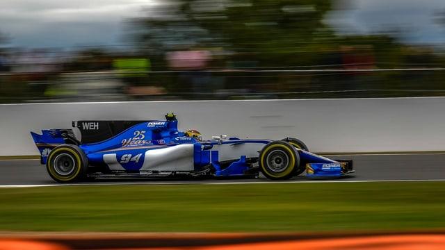 Auto da Sauber sin la pista da cursa.