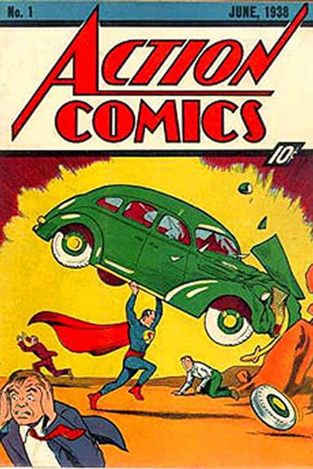 Cover der 1. Ausgabe des Superman-Heftes von 1938.