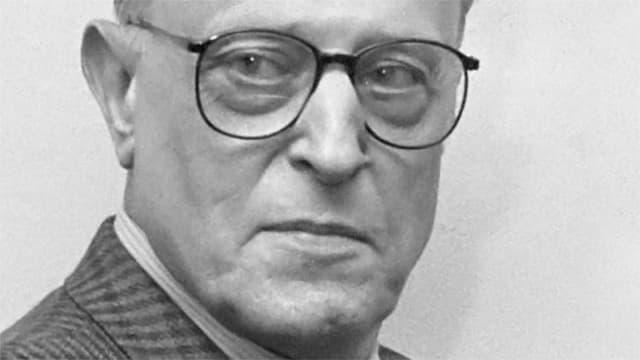 Ein Porträt des belgischen Schriftstellers Willem Frederik Hermans.