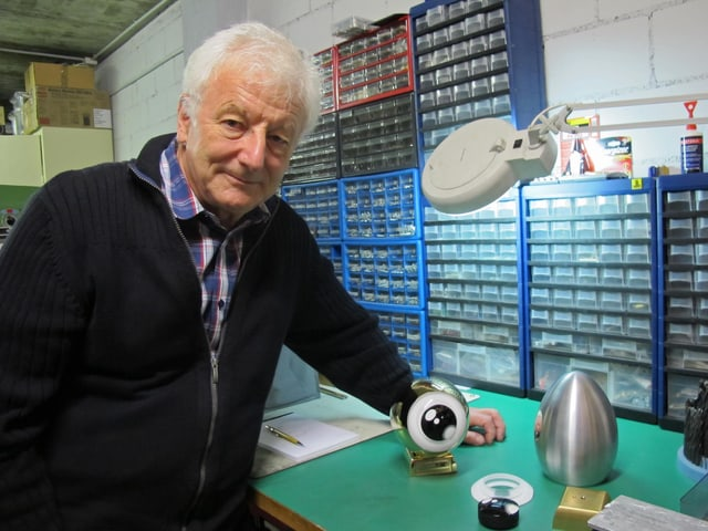 Mechaniker, Tüftler und Entwickler des Golden Eye: Gérald Koller.