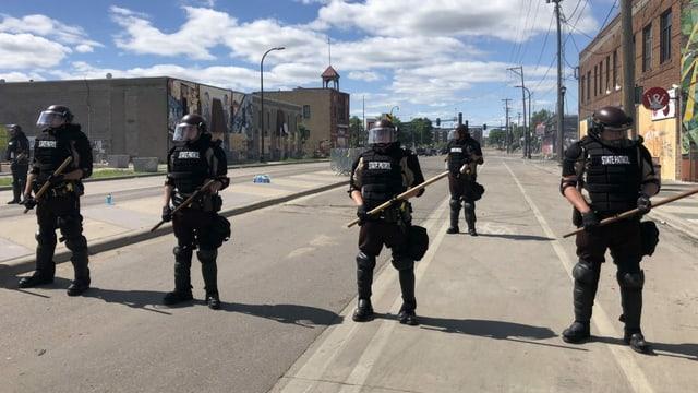 Polizisten in Minneapolis.