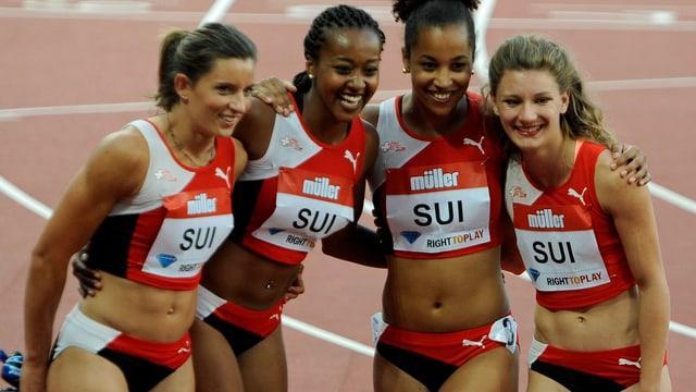 Die Schweizer Frauen-Staffel