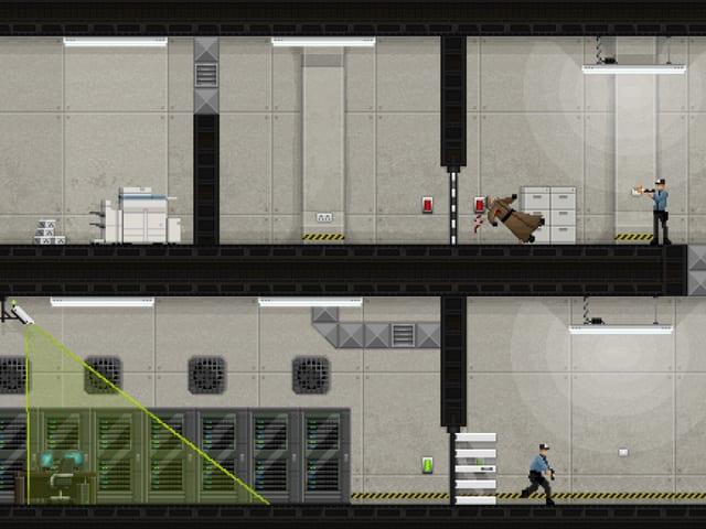Spielszene aus «Gunpoint»