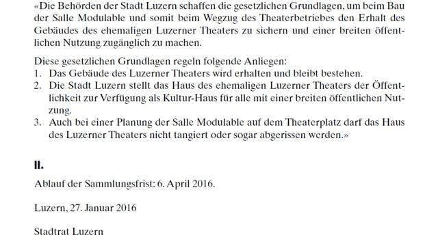 Screenshot aus dem Kantonsblatt des Kantons Luzern.