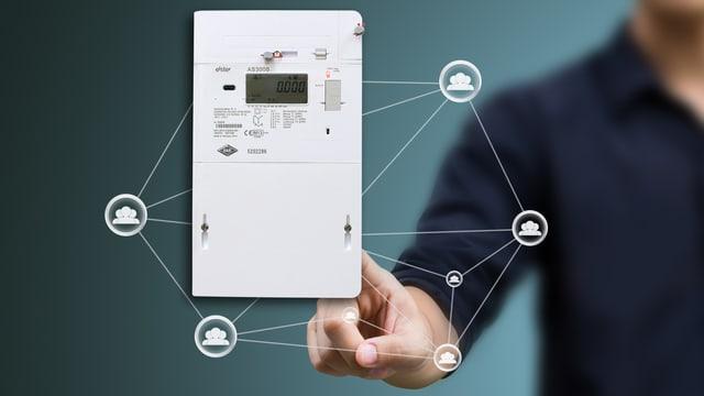 Der Smart Meter ist ein ein elektronisches weisses Kästchen