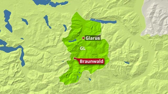 Carta dal chantun Glaruna