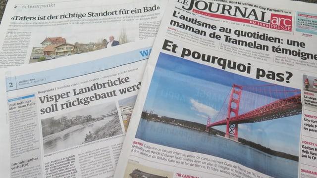 Zeitungsausschnitte mit Aprilscherzen