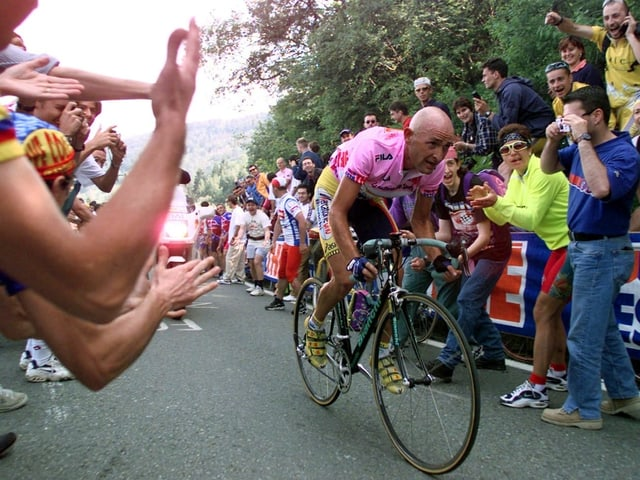 Marco Pantani am Giro d'Italia 1999.