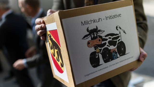 Milchkuh-Initiative wird eingereicht.