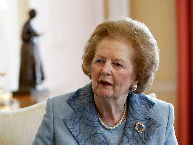 Margaret Thatcher, hier bei einem Besuch in Downing Street No. 10 im Jahr 2010.