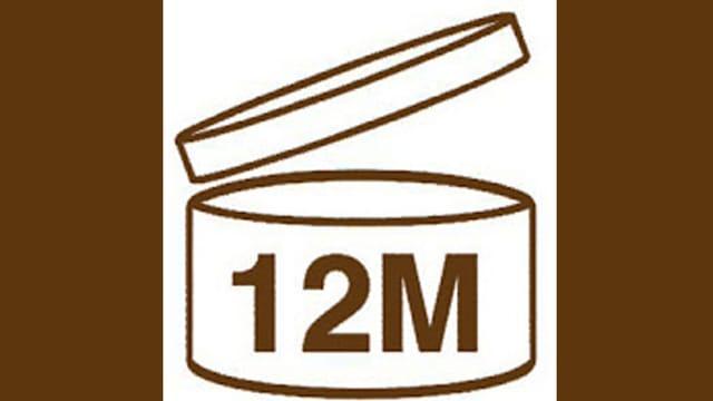 Logo für die Haltbarkeitsangabe von Kosmetika