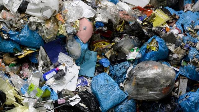 Abfall in einer Kehrichtverwertungsanlage