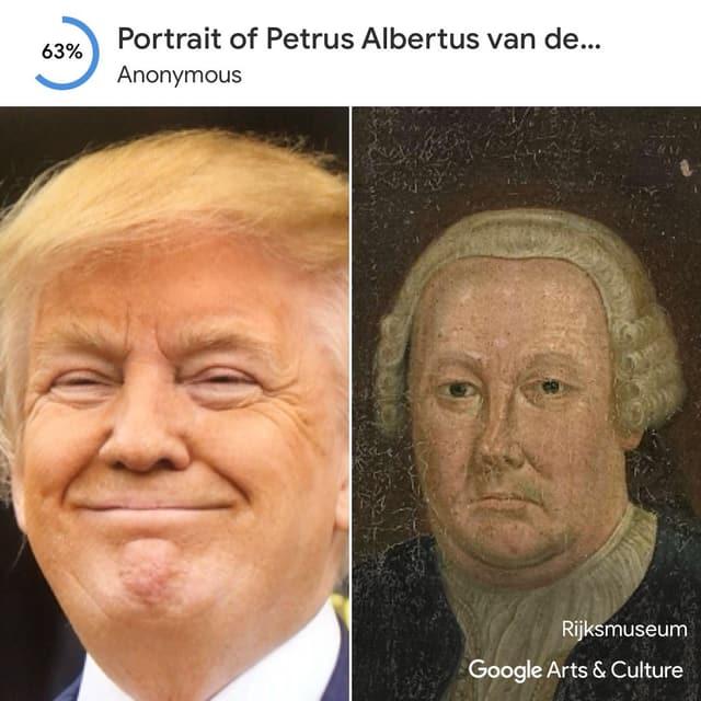 Ein Google Art Selfie mit Donald Trump