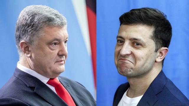 Petro Poroschenko und Wolodymyr Selenski.