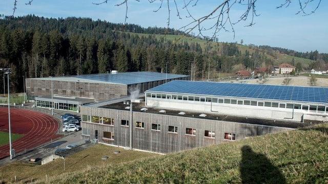 Blick auf das Sprotzentrum Huttwil.