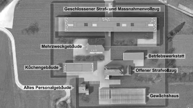 Skizze des neuen Gefängnis des Kantons Solothurn aus dem Jahr 2008.