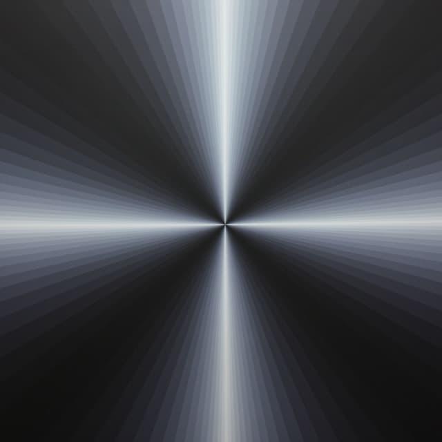 Quadrat mit kreuzförmigem Lichtstreif in der Mitte.