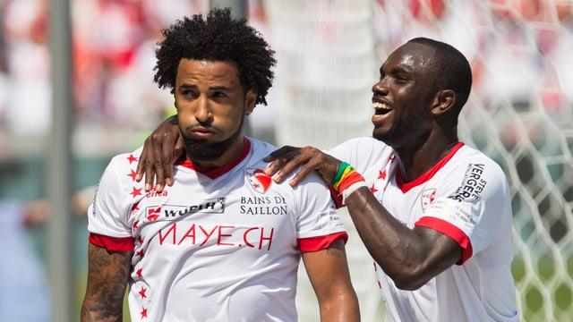 8 der 10 Sion-Tore erzielten Carlitos und Moussa Konaté.