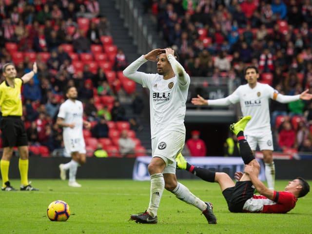 Verzweiflung bei Valencias Coquelin im Spiel gegen Bilbao.