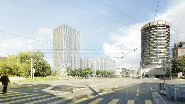 Visualisierung des Baloise-Bauprojekts