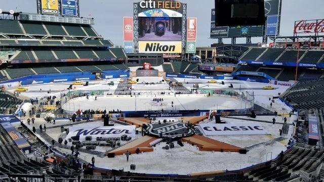 Ein Blick ins Citi Field, wo die Winter Classic stattfinden wird.