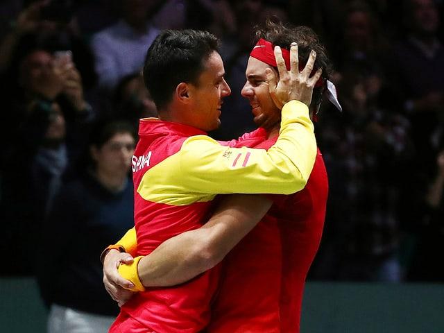 Rafael Nadal und Roberto Bautista Agut.