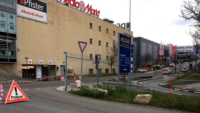 Media-Markt-Fassade in Pratteln.