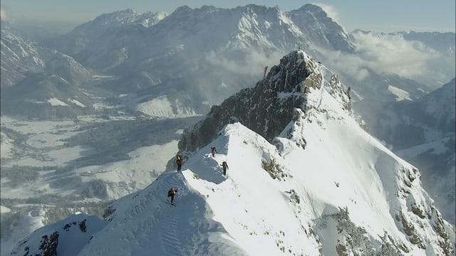 Bergspitze von oben