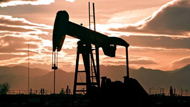Ölpumpe in Fredrick, Colorado, USA