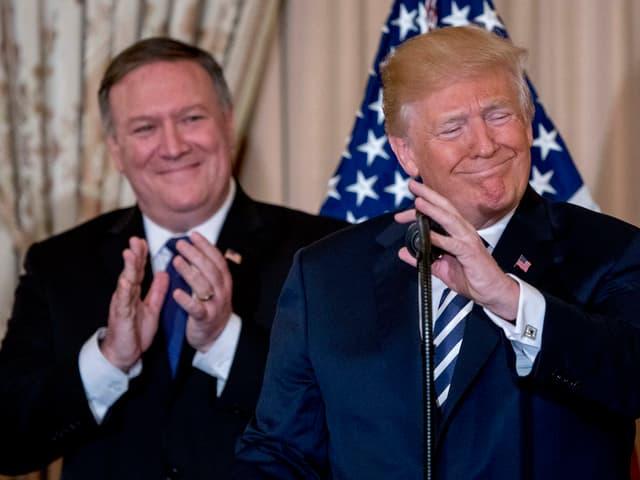 Pompeo und Trump.