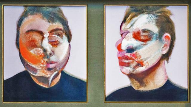 Doppeltes Selbstportrait in Öl