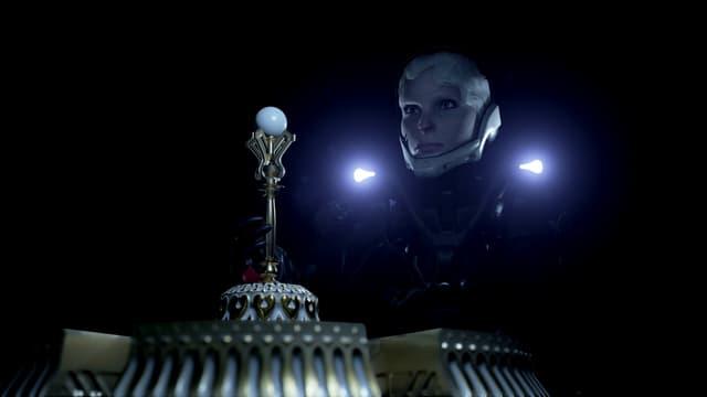 En hat im noch dunklen Palast einen mysteriösen Stab gefunden.