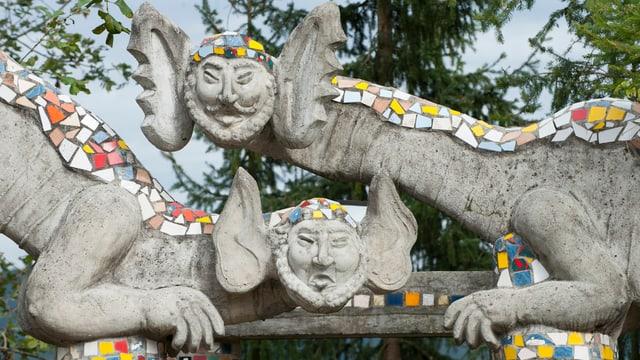 Skulpturen im Bruno Weber Park.