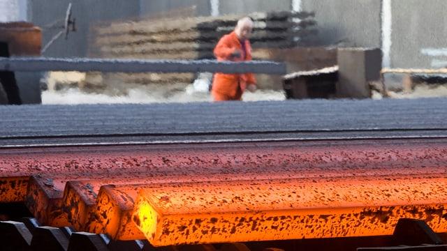 Mitarbeiter im Stahlwerk Gerlafingen