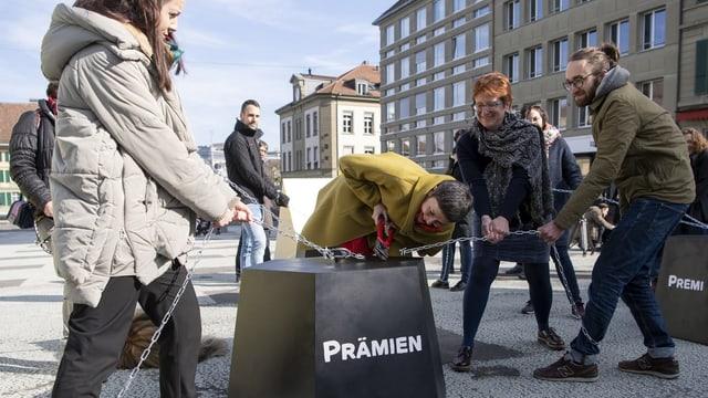 Aktion auf dem Bundesplatz