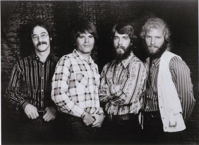 Die Band Creedence Clearwater Revival schwarzweiss