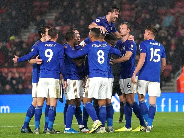 Leicesters Spieler im Tor-Rausch