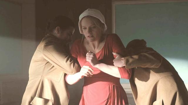 Versklavte Gebärmaschine: Elisabeth Moss als Offred in «The Handmaid's Tale».