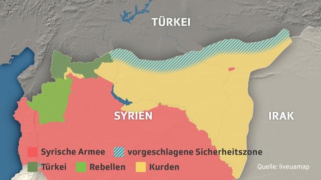 Karte von Syrien