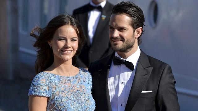 Schwedens Prinz Carl Philip und seine Frau Prinzessin Sofia.
