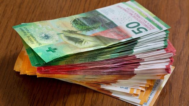 mantun da bancnotas da 50, da 20 e da 10 francs