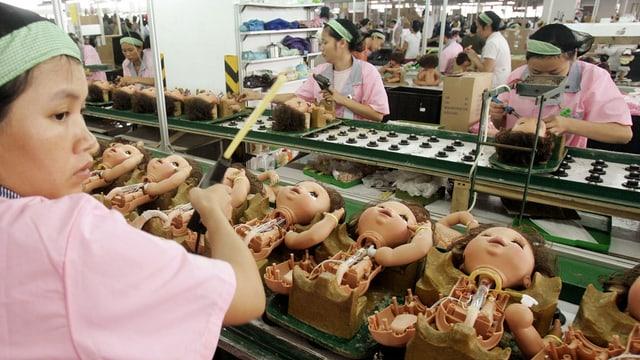 Schlimme Zustände in chinesischen Spielzeugfabriken