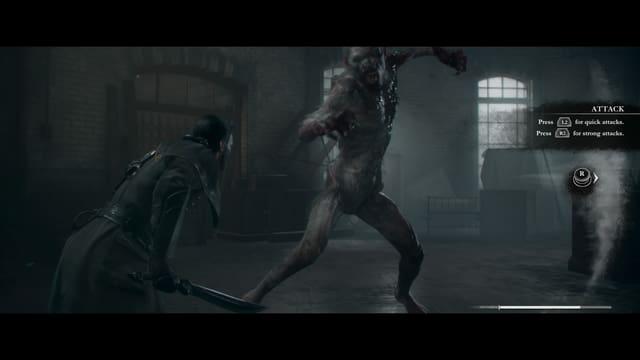 Ein Werwolf-Vampir hohlt zum Angriff aus.